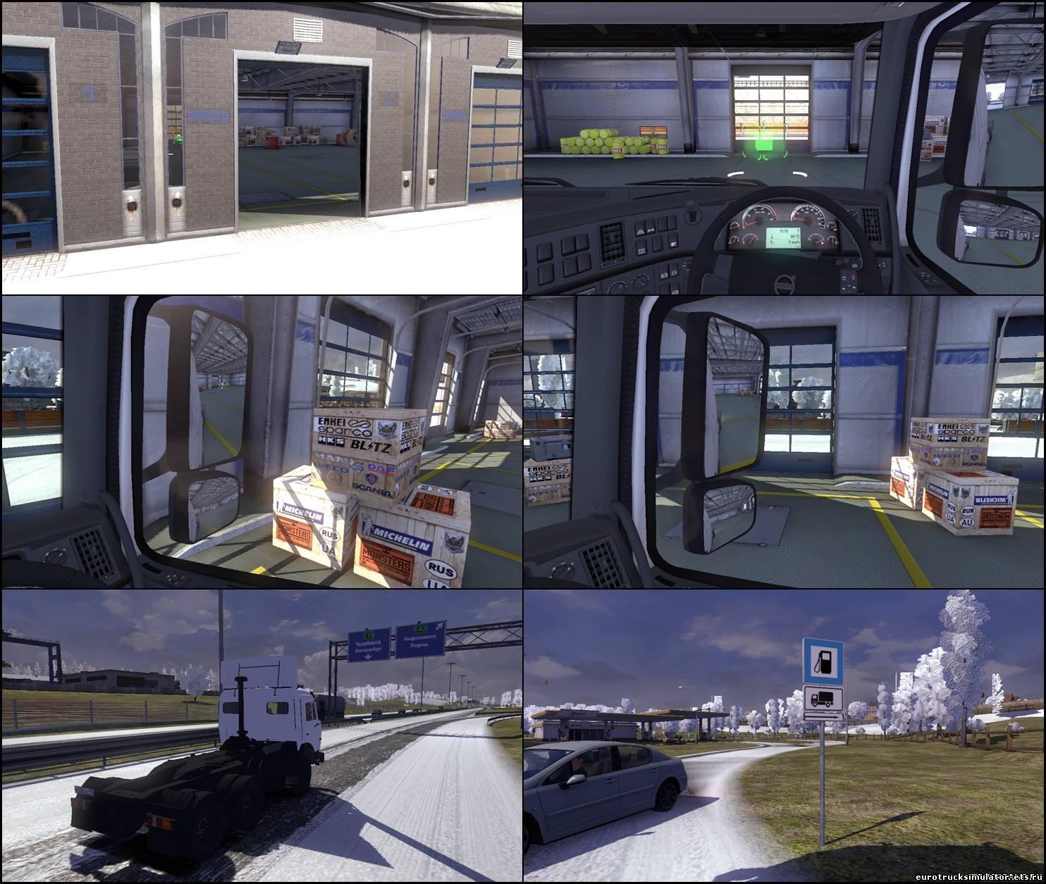 Карта России и Украины для Euro Truck Simulator 2