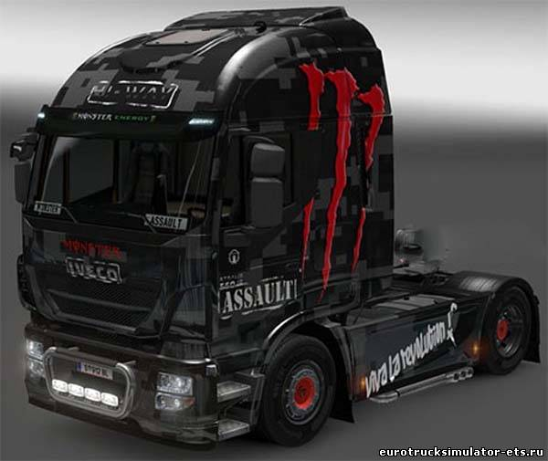 Monster skin assault iveco hi-way для Euro Truck Simulator 2