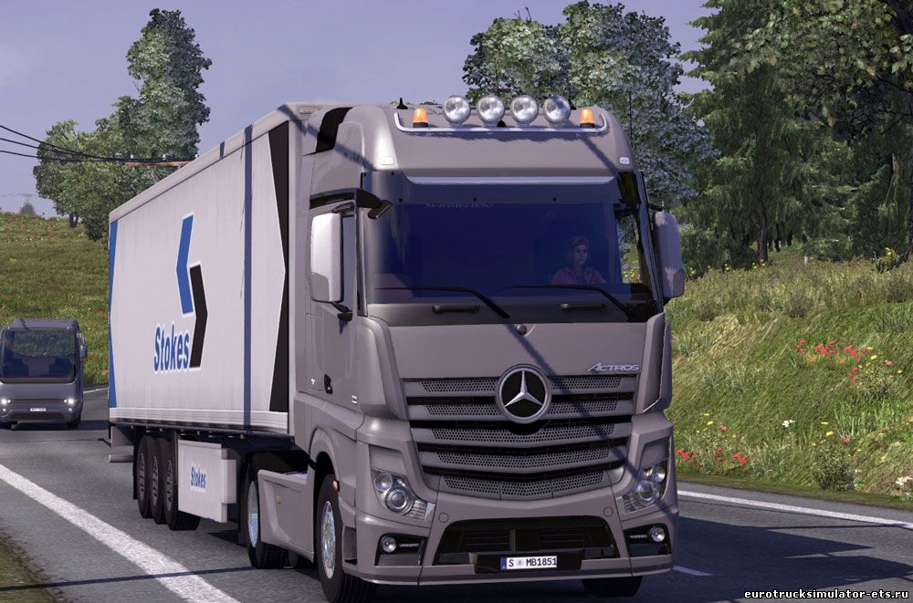 MERCEDES BENZ ACTROS MP4 V3 + салон для Euro Truck Simulator 2