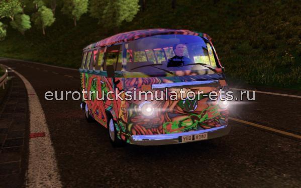 Скачать Микроавтобус VW T2 бесплатно