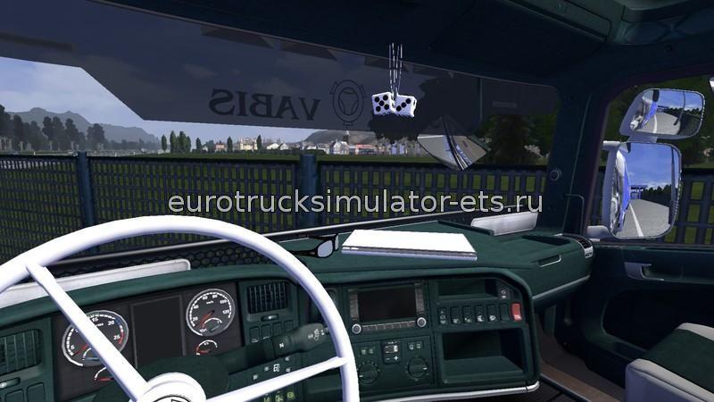 Скачать Зеленый интерьер Scania v1.16 бесплатно