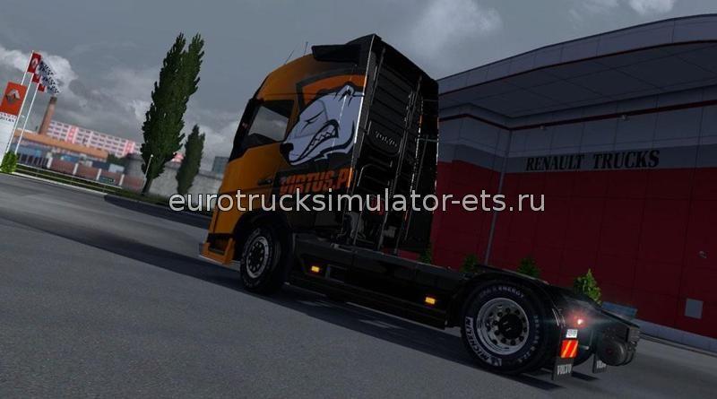 Скачать Volvo FH 2012 Virtus pro skin бесплатно