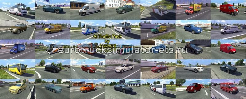 Ai Traffic pack by jazzycat v2.4 для Euro Truck Simulator 2